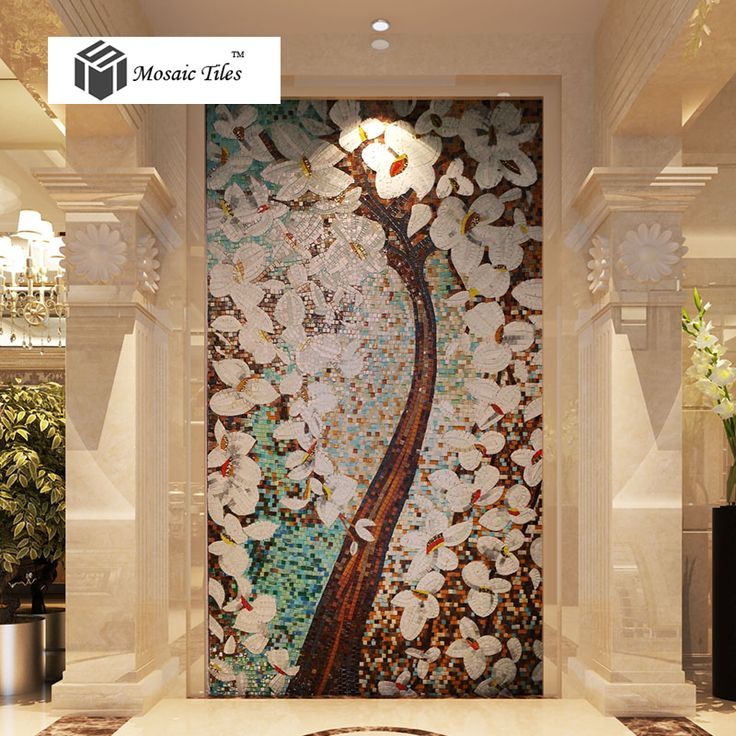 Bisazza style jade glass mosaic tiles pachira tree floral puzzle parquet deco mesh art mosaic handmade hotel living room wall-in Mosaics from Home Improvement on Aliexpress.com | Alibaba Group