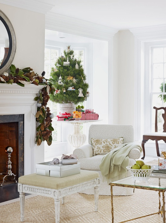 Tone on Tone: A Light and Airy ChristmasDecor Ideas, Tabletop Trees, Swedish Antiques, Living Room, White Christmas, Christmas Seasons, Christmas Decor, Holiday Decor, Christmas Trees