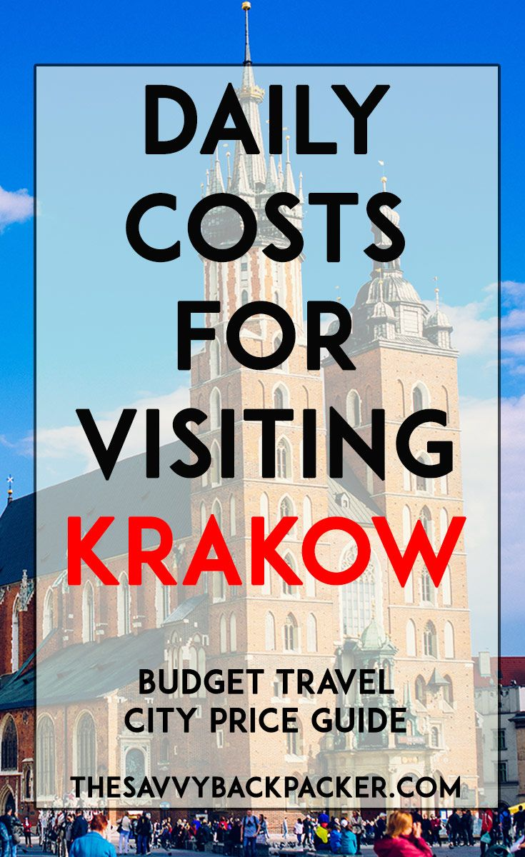 The daily costs to visit Krakow. Tips for estimating the price of food, hostels, hotels, attractions, museums, alcohol, & more — City Price Guide Series