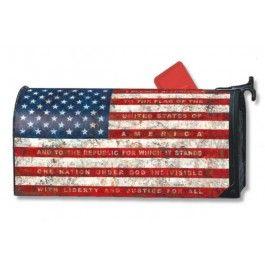 Pledge Of Allegiance Mailbox Cover | Sturbridge Yankee Workshop