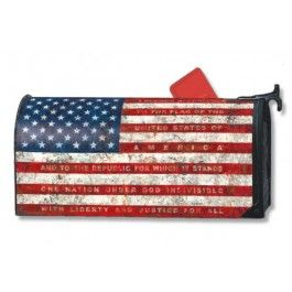 Pledge Of Allegiance Mailbox Cover | Sturbridge Yankee Workshop