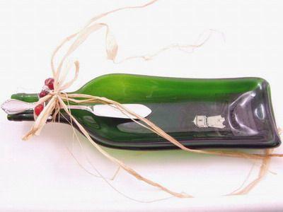 Silver Oak Wine Bottle Spoon Rest | Masters Glass Art