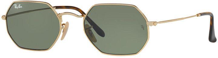 Ray-Ban OCTAGONAL FLAT LENS Sunglasses, RB3556N 53
