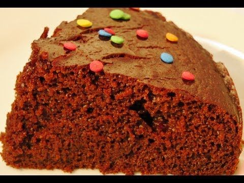How to make Eggless Chocolate Cake in Pressure Cooker (Cooker Cake) (No oven cake) - YouTube