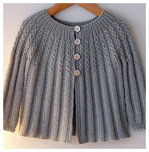 Ravelry: AliciaPaulsons Changing Days Cardigan a baby sweater - re work for grown-up.......