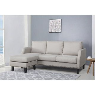 Shop for Abbyson Henry Light Grey Reversible Sofa Sectional. Get free shipping at Overstock.com - Your Online Furniture Outlet Store! Get 5% in rewards with Club O! - 21020148