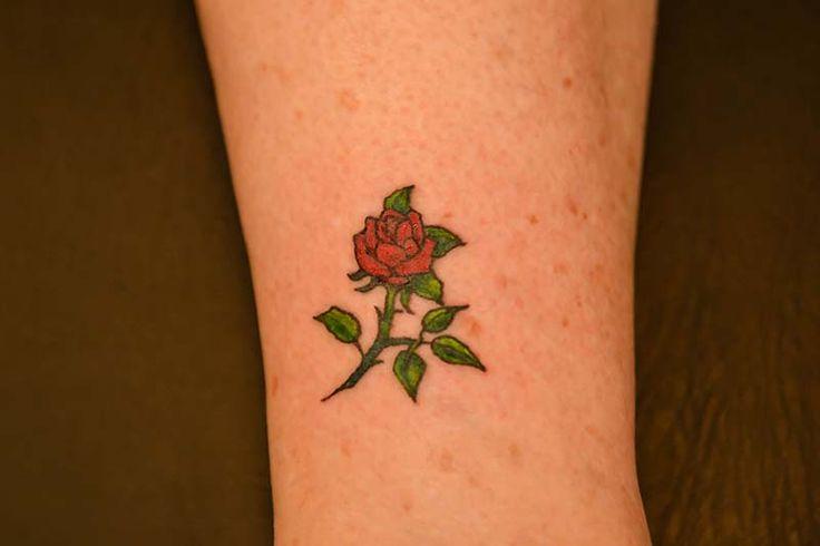 Small Tattoo Yellow: Small Rose Tattoo. Illustrator Tattoo.