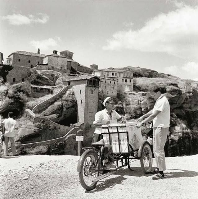 Selling ice cream in Meteora, Thessaly (photo by Robert Mccabe)
