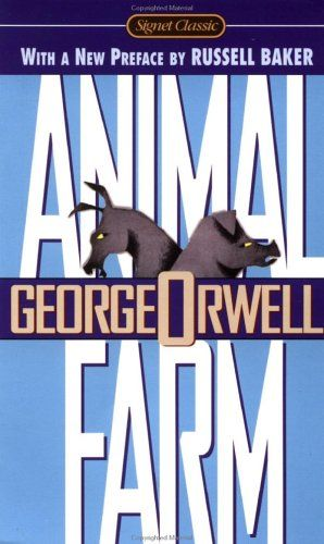 Animal Farm by George Orwell is a fantastic book about a group of farm animals who were abandoned and had to make it on their own.