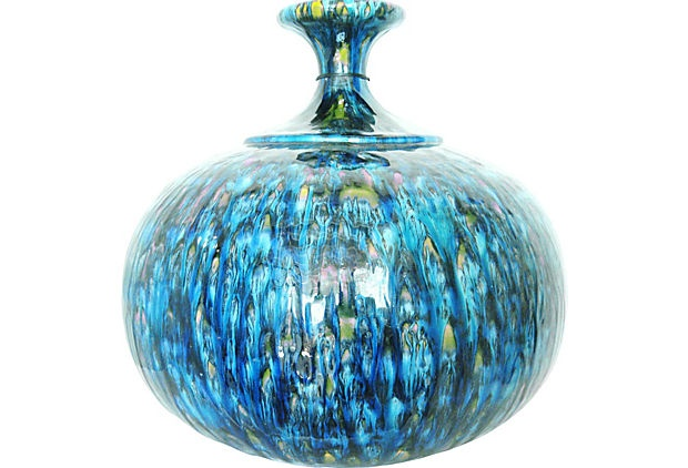 Large Blue Midcentury Lamp Base on OneKingsLane.com