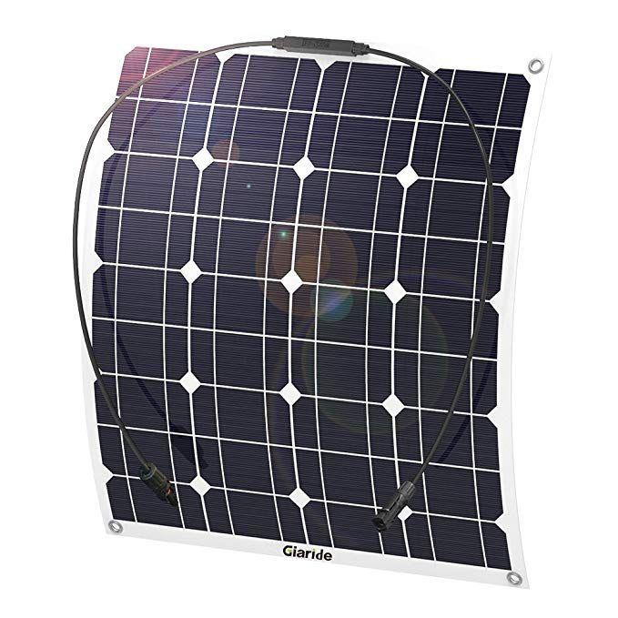 Giaride 50w 18v 12v Solar Panel Monocrystalline Cell Flexible Bendable Lightweight Waterproof Off Grid Flexible Solar Panels Solar Panels Off Grid Solar Power