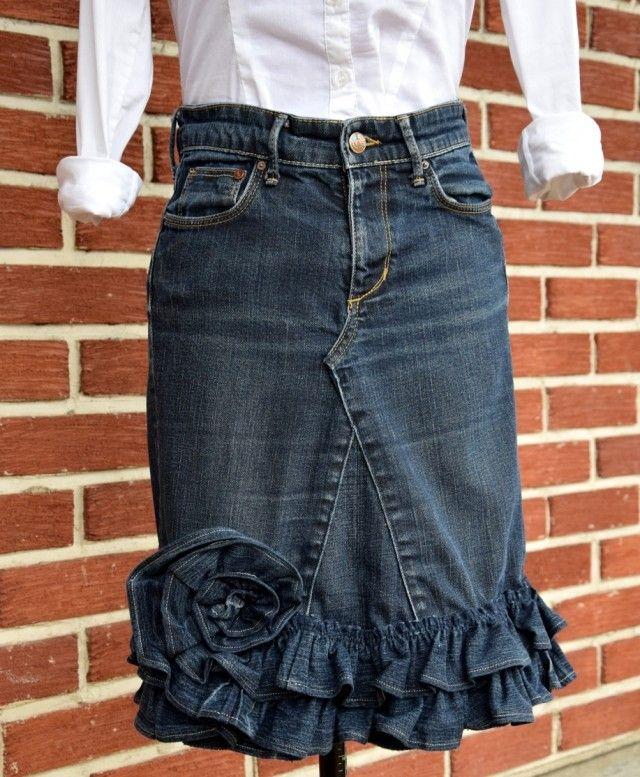 Sy kjol av jeans