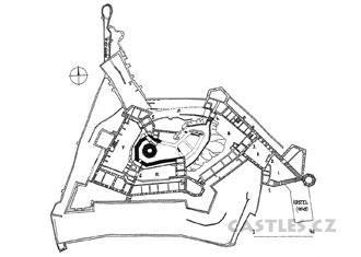 Sovinec, plan showing full development