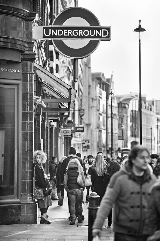 Covent Garden underground station, London.