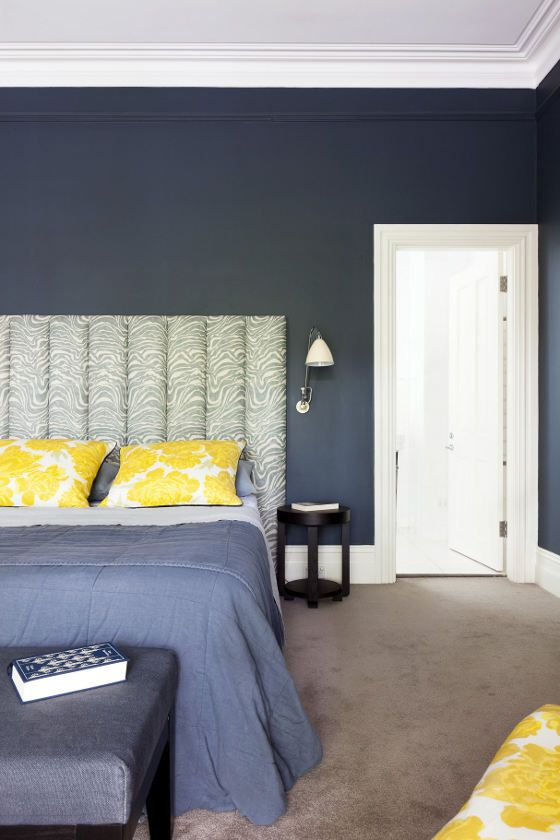 navy blue and y... Navy Blue And Yellow Bedroom