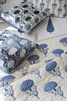 Marigold Bed Collection Good Earth. #CloudIndigo #HandBlock #SustainableLuxury