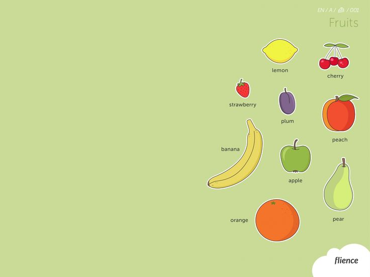 Food-fruits_001_en #ScreenFly #flience #english #education #wallpaper #language