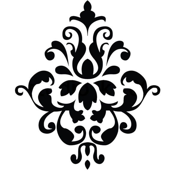 Damask Design Vinyl Wall Decal
