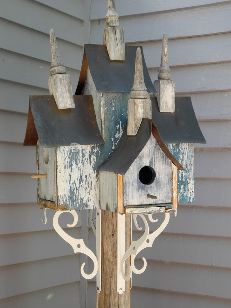 1798 best images about rustic birdhouses on pinterest for Bird house styles