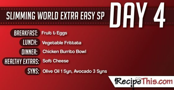 Slimming World | My Day 4 of a tailormade Slimming World SP Week brought to you by RecipeThis.com
