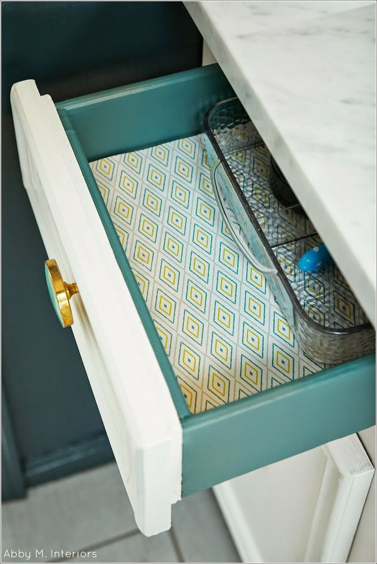 paint sides and inside of drawer different color.  Abby M. Interiors: One Room Challenge: Week 6 {the reveal}#.U2xOpTNOXIV