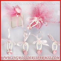 bomboniere battesimo economiche rosa bimba