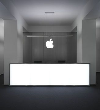 Apple Reception Desk Dedicated to improve any interior with superior acoustic experience. www.bedreakustik.dk/home