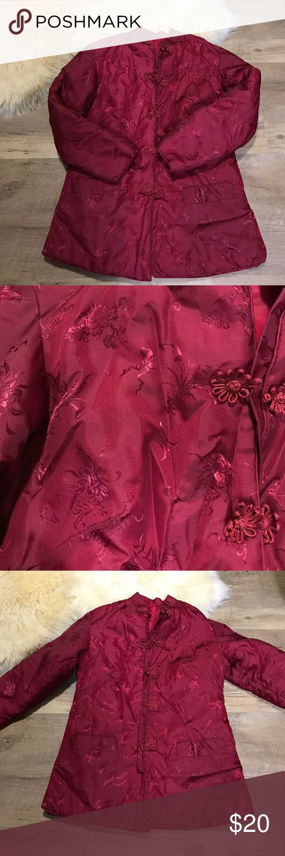 Chinese Cherry Blossom Satin Bomber Jacket Chinese Bomber Jacket. Not ASOS under it for exposure ASOS Jackets & Coats