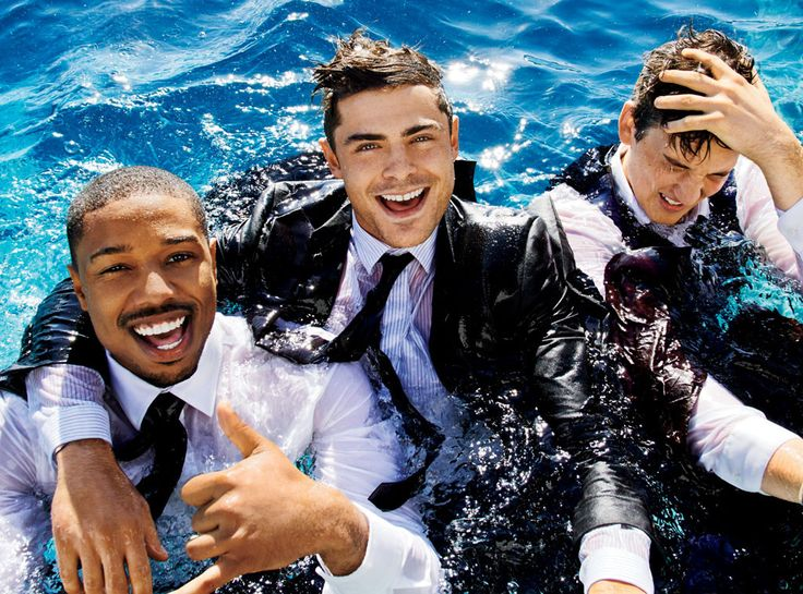 Zac Efron, Michael B. Jordan, and Miles Teller... have you ever seen anything more attractive than these three?