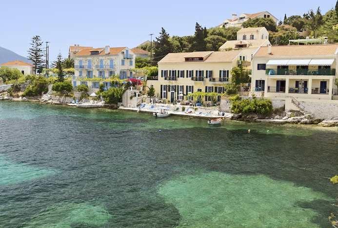 The fishing village of Fiscardo on Cephalonia