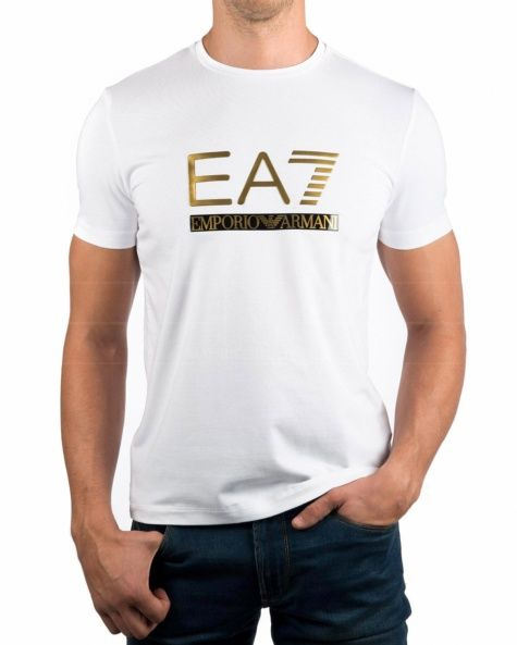 Camisetas Armani EA7 - Blanco & Dorado