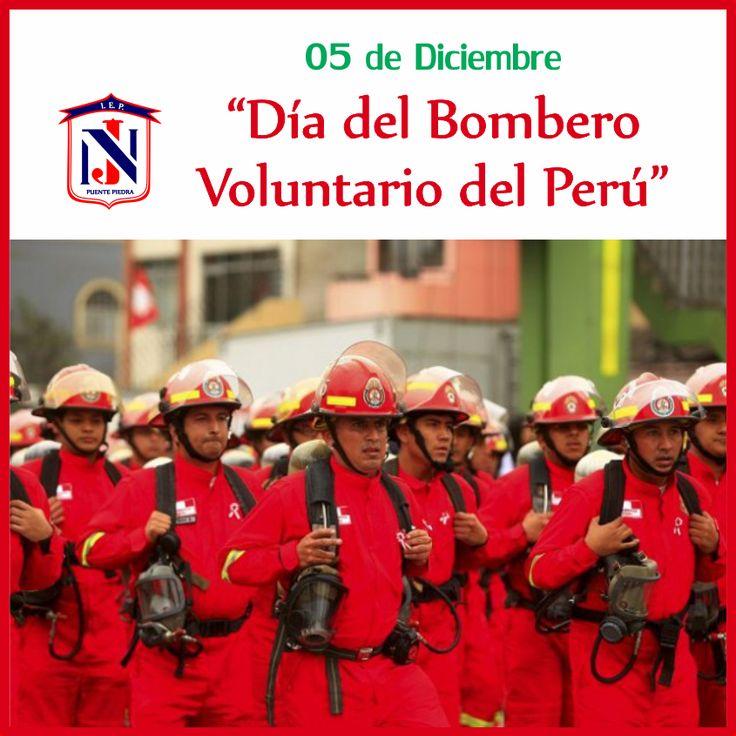 """Hoy #05DeDiciembre se celebra el """"Día del Bombero Voluntario del Perú""""."""