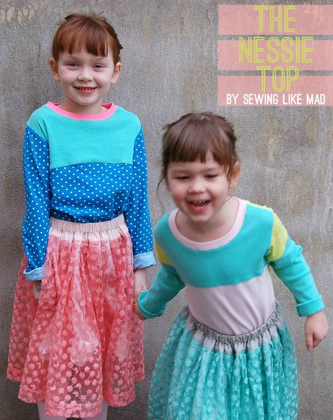 Sewing Like Mad: The Nessie Top by CINO and lace skirts that twirls - woohoo!