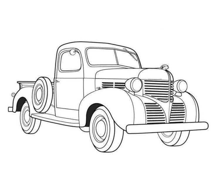 Antique Truck Coloring Pages Desenhos De Carros Desenhos De