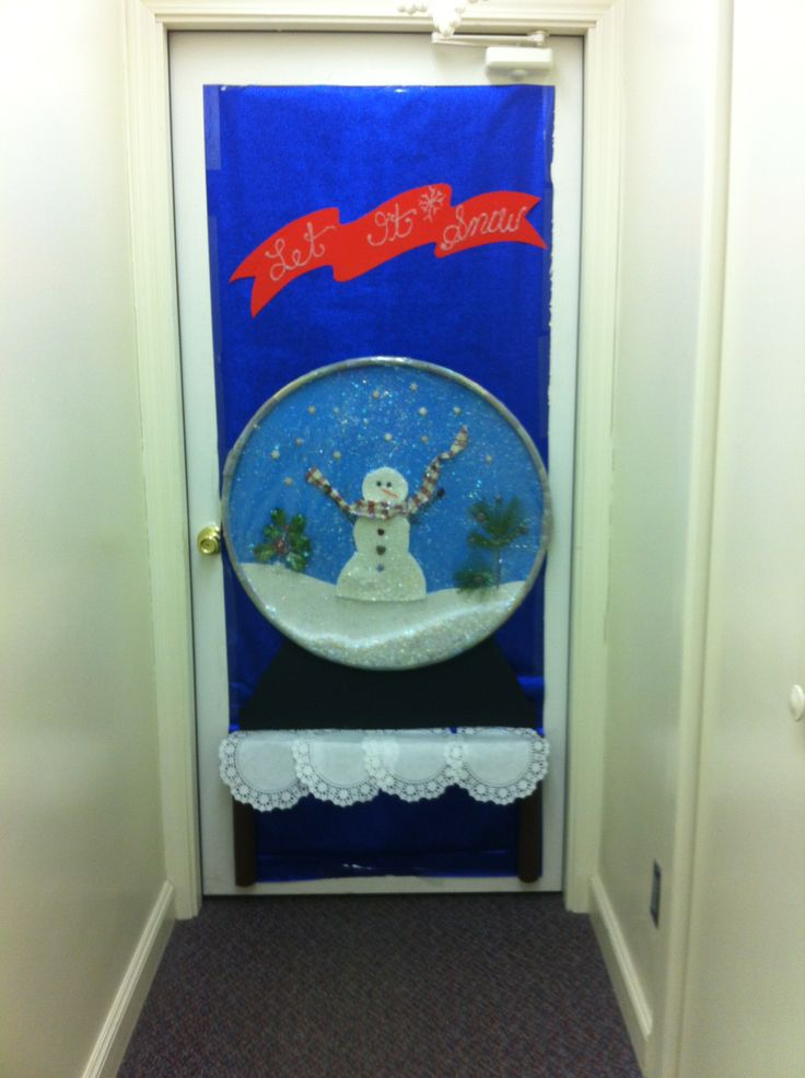 Christmas Door Decorating Ideas Snow Globe : Best images about christmas door contest on