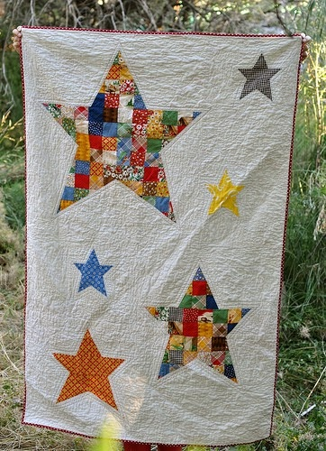 scrappy star quilt