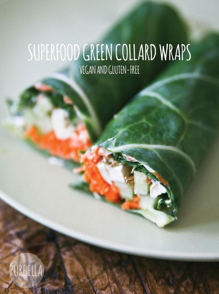 Pure Ella | Superfood Green Collard Wraps, gluten-free and vegan #glutenfree #vegan #meatlessmonday | www.pureella.com