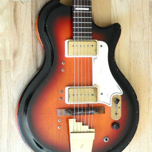 Vintage Electric Guitars for Sale | 1959 Supro Val Trol Dual Tone Vintage Electric Guitar 100 Stock w OHSC ...
