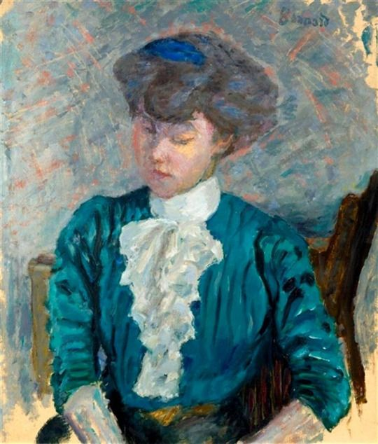 Pierre Bonnard (French, 1867-1947) - Woman in Pink Jabot, 1903