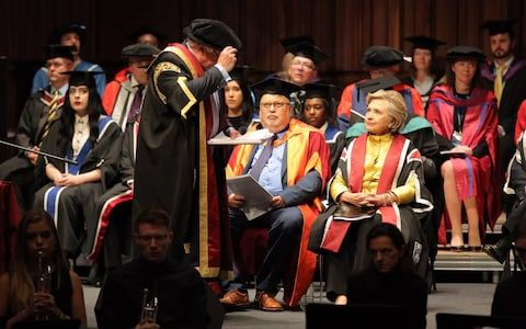 Hilary Clinton, the former US secretary of state and 2016 American presidential candidate will be presented with an honorary doctorate during a ceremony at Swansea University's Bay Campus in Wales, UK.