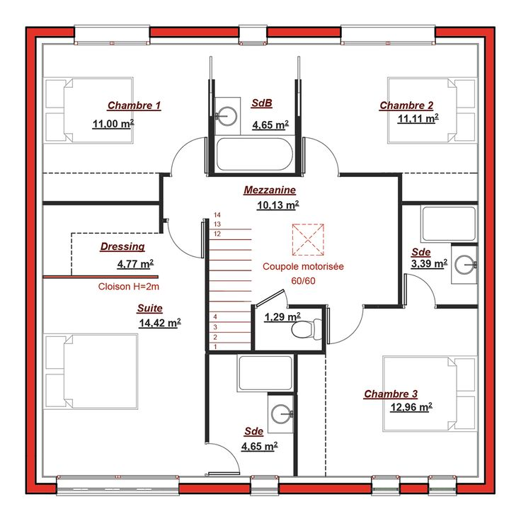 11 best 2017-2018 images on Pinterest House floor plans, House - plan petite maison 70 m2