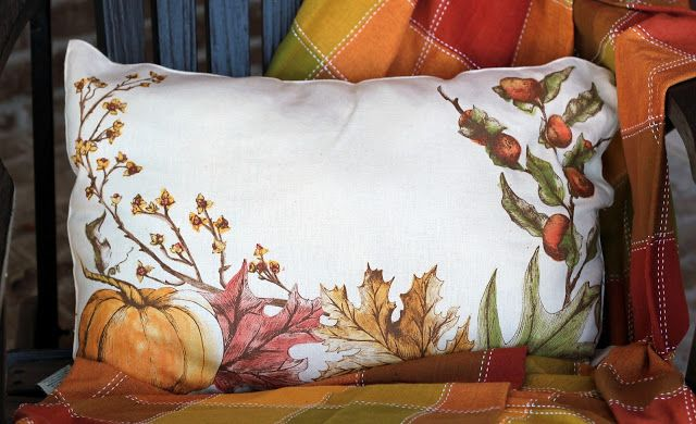 DIY Pottery Barn Fall Pillows from placemats for under $7  I love shopping Outlet malls for the discounts but when shopping at the Pot...