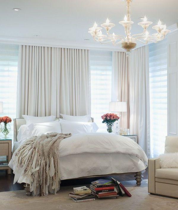 die besten 25+ lange gardinen ideen auf pinterest | küchen ... - Scheibengardinen Für Schlafzimmer