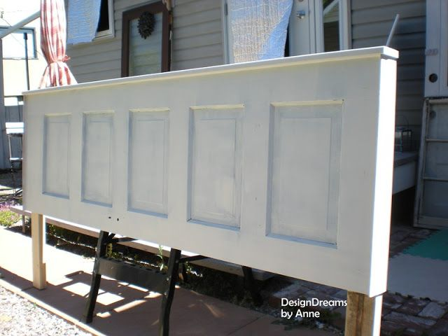 DesignDreams by Anne: Vintage Door Headboard (another easy peasy project)