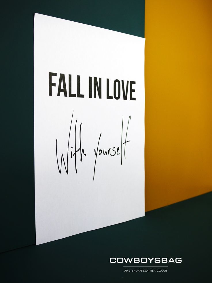 Fall in love, with yourself | Cowboysbag