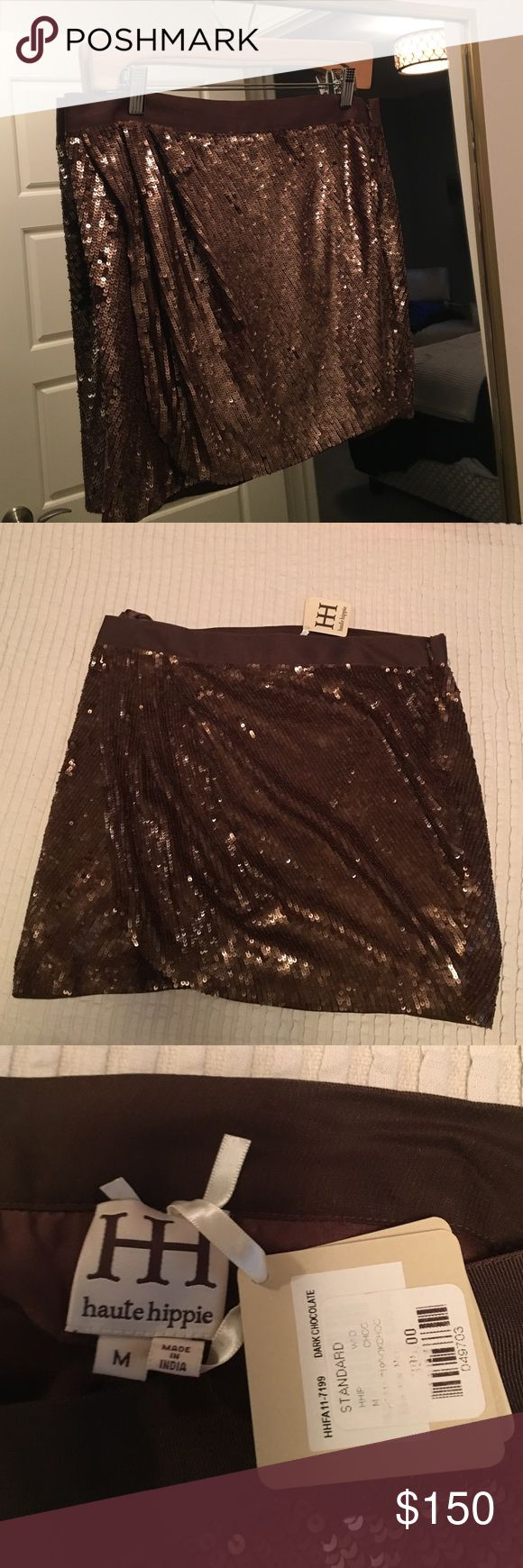 NWT Haute hippie sequin mini Perfect sequin mini for the holidays. Never worn, tags still attached. Haute Hippie Skirts Mini