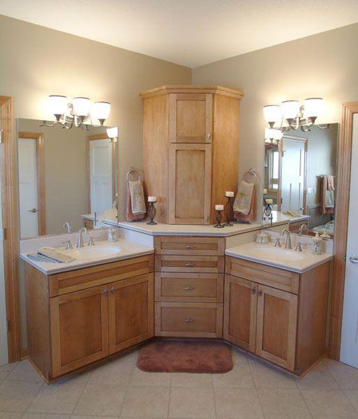 K Amp V Homes Master Bathroom Cabinet Arrangement With Linen