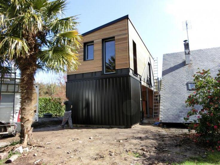 21 best images about fa ade extension bois sur pinterest - Maison en tole ondulee ...