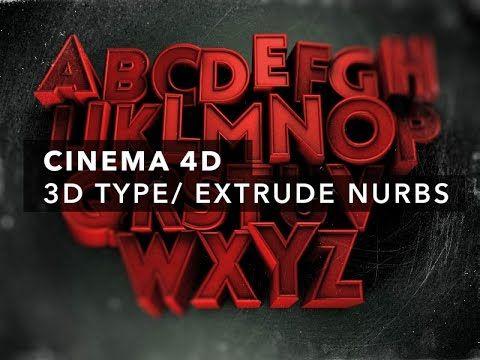 Tutorial del uso básico de Extrude Nurbs en Cinema 4D utilizado para crear textos.