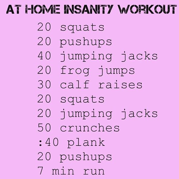 At Home Insanity Workout....starting tomorrow...and everyday.